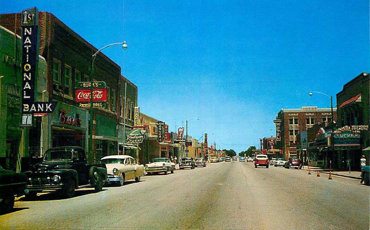 Kansas Old Main Street Postcards Peter D Paul Com