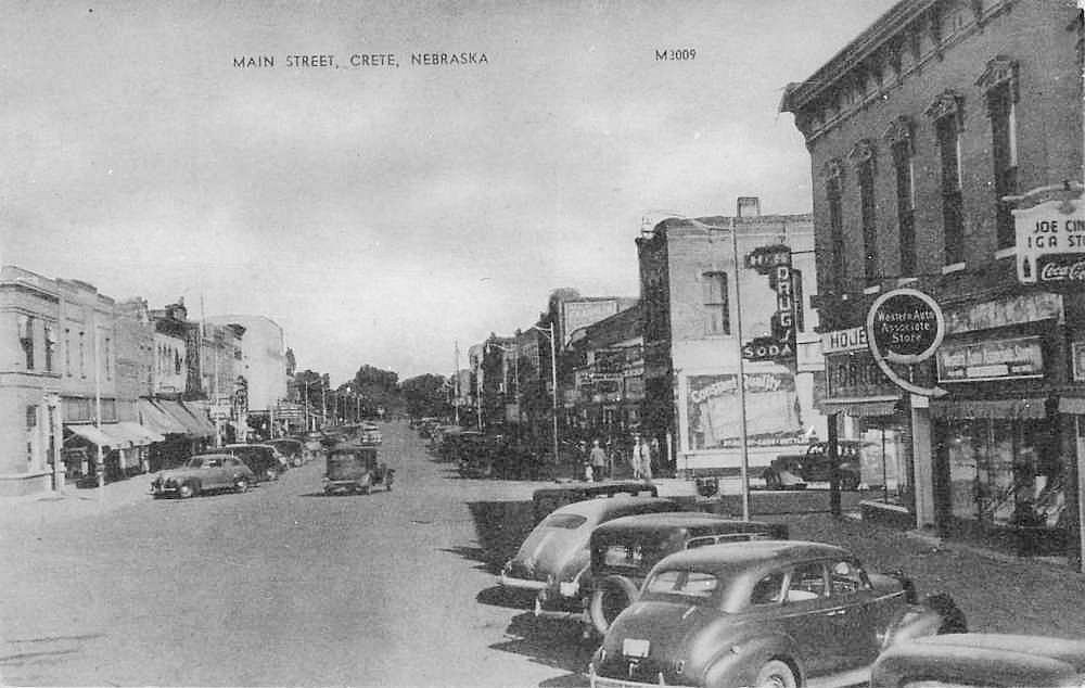 Nebraska Old Main Street Postcards Peter D Paul Com